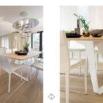 białe skórzane krzesła do jadalni