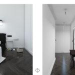 czarno białe mieszkanie