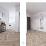 hol z drewniana podłogą