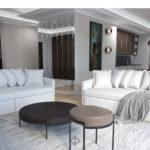 jasne sofy w salonie