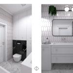 mała klasyczna łazienka