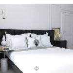 mała sypialnia w stylu klasycznym