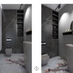 naturalny kamień w łazience