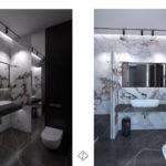 oświetlenie nastrojowe w łazience