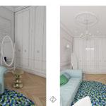 pokój dziewczynki w stylu klasycznym