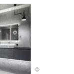 szara łazienka czarne