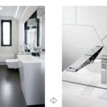 wzór na ścianie w łazience