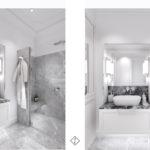 łazienka modern classic kamienica