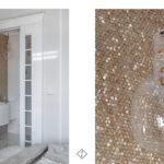 łazienka złota mozaika