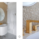 łazienka złote beterie