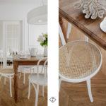 krzesło białe z plecionką
