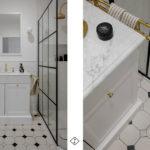 retro łazienka biała